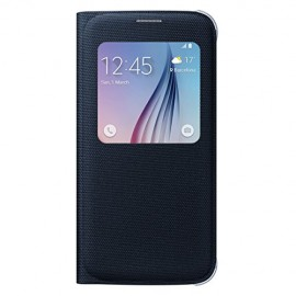 Samsung S-View Fabric Cover for Galaxy S6 (Black)
