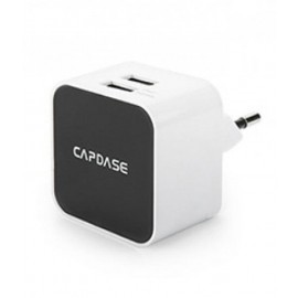 Capdase TKCB-CK02-EU Dual USB Power Adapter and Cable(White)