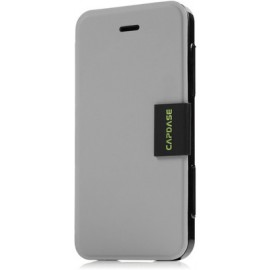 Capdase Flip Cover for iPhone 5 / 5S(Dark Grey & Black)
