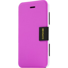 Capdase Flip Cover for iPhone 5 / 5S(Fuchsia White)