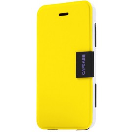 Capdase Flip Cover for iPhone 5 / 5S(Yellow & White)