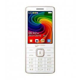 Micromax X2820-White & Gold