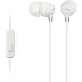 Sony MDR-EX15AP Wired Headphones (White, In the Ear)